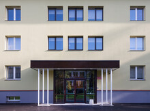 Modern Youth Hostel Building, Accommodation For Travellers.
