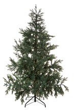 Artificial Green Christmas Tree Isolated On A White Background