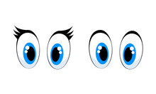 Cartoon Blue Eyes For Animals For Girls And Boys