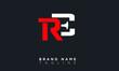 RE Alphabet letters Initials Monogram logo ER, R and E