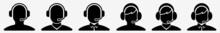 Call Center Icon Call Centre Agent Set | Call Center Support Icon Service Operator Vector Illustration Logo | Support-Icon Isolated Call Center-Service Collection