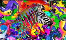 Background With Zebra