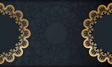 Baner In Black With A Luxurious Gold Pattern And A Place For Your Text
