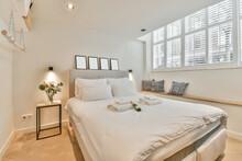 Bedroom Interior In Modern Hotel