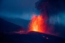 Cumbre Vieja Volcanic Eruption In La Palma Canary Islands 2021