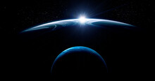 Image Of Planet In Outer Space.