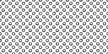 Polka Dot Seamless Pattern With Hand Painted Circles