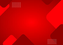 Design Red Abstract Polygonal Background