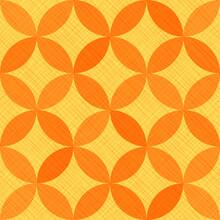 Interlacing Circles Parts Elegant Seamless Vector