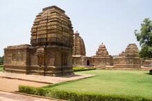 Temples Of Various Architectural Styles At Pattadakal In Bagalkot District, Karnataka, India
