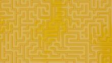 3d Maze Design Top Wiev