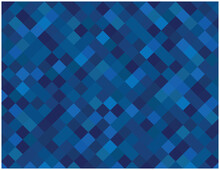 Blue Squares Vector Background.Abstract Vector Mosaic Tioles Background.