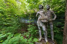 Soviet Monument To Children Pioneers