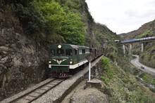 The Yunnan Railway With Old Style Train