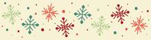 Hand Drawn Christmas Snowflakes. Vector