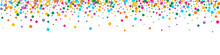 Color Rain Vector Vector Panoramic Background.