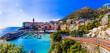 Leinwanddruck Bild - Most colorful coastal towns near Genova - beautiful Nervi village in Liguria with nice beach. Italy summer destinations, Liguria
