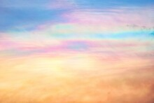 A Rare Case Of Iridescent Clouds Showing Dramatic Color Change In The Sky