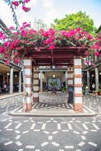 "Hall Of A Touristic Market Named ""Mercado Dos Lavradores"" At Funchal In Madeira Island"