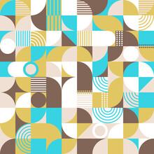 Vector Seamless Geometric Pattern. Abstract Flat Design. Minimalistic Scandinavian Pattern.
