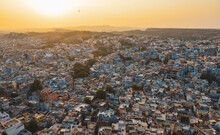 Old Town Of Jodhpur (India) In Blue Hues