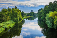 Havel River Surrounded By Green Trees In Summer