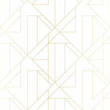 Golden Texture. Seamless Geometric Pattern. Golden Background. Vector Seamless Pattern. Geometric Background With Rhombus And Nodes.