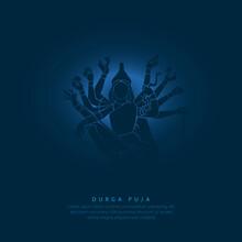 Abstract Illustration Of Durga Puja.