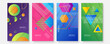 Colorful gradient geometric pattern background texture for poster cover design. Minimal color abstract gradient banner template. Modern vector wave shape for brochure and social media template