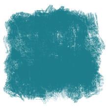 Fondo Turquesa Oscuro, Marco Cuadrado Textura Cera O Pastel, Pintura.