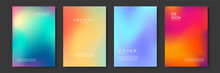 Blurred Backgrounds Set With Modern Abstract Blurred Color Gradient Patterns. Templates Collection For Brochures, Posters, Banners, Flyers And Cards. Vector Illustration.