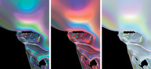 Modern Abstract Holographic Background. 3D Render