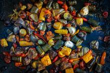 Légumes Méditerranéens Cuits Sur Une Plaque