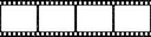 Grunge Film Strips Vector. Old Retro Cinema Movie Strip. Video Recording. Flat Vector Illustration.
