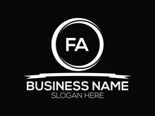 FA  Logo Letter Vector For Brand
