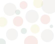 ランダムな淡い色の水玉模様 背景 壁紙 全面