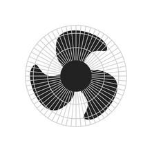 Black Metallic Ventilator Isolated Over White Background