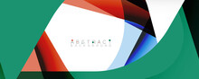 Geometric Abstract Background - Multicolored Abstract Shapes On White. Vector Illustration For Wallpaper, Banner, Background, Landing Page
