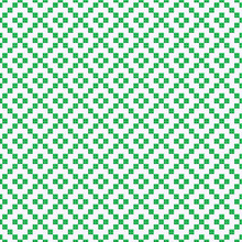 Repetitive Traditional Motif With Green Diamonds Vector Background. Green Rhombus Seamless Pattern.