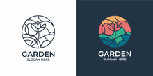 Minimalist And Elegant Garden Logo Set