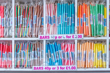 One Of Many Stalls Along Blackpool`s Golden Mile Selling Stick`s Blackpool Rock