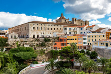 Spain, Balearic Islands, Mahon, Exterior OfClaustre Del Carme Market Hall In Summer