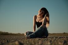 Tramp Girl Sitting