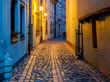 Fototapeta Uliczki - Night in narrow street in old town