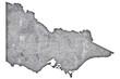 canvas print picture - Karte von Victoria auf verwittertem Beton