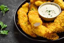 Crispy Fried Breaded Chicken Breast Strips