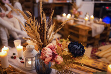 A Colorful Closeup Of Dried Flowers, Dried Oranges, Fragrant Herb Leaves, And Seedpods Used As Flower Confetti Or Potpourri.