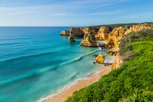 Cliffs In The Coast Of Algarve