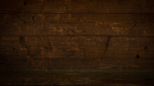 Old Brown Rustic Dark Wooden Texture - Wood Timber Background