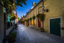 Rue Du Petit Champlain, In Old Quebec Under The Chateau Frontenac